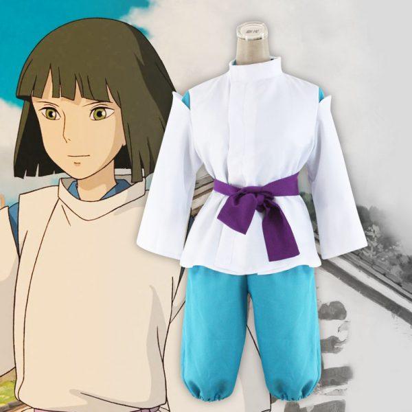 Classic Spirited Away White Dragon Haku Cosplay