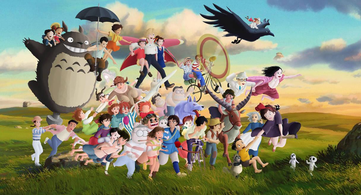 Studio Ghibli Characters By Ficklestix D846q1x Pre