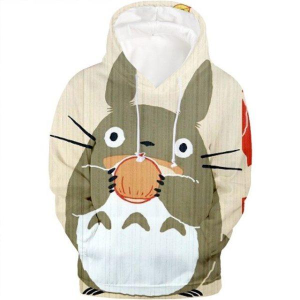 Cute Totoro Eats Cake Hoodie