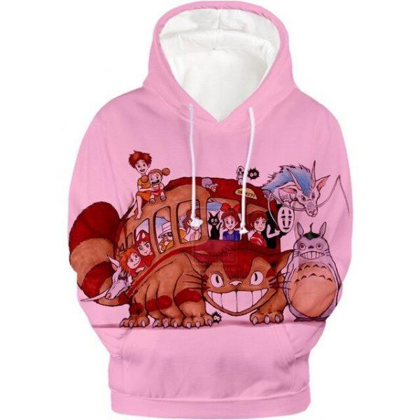Cute Cat Bus Pink Hoodie