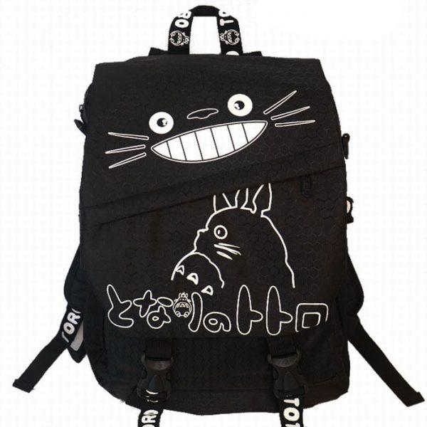 Totoro Cute Black Canvas Adult Backpack