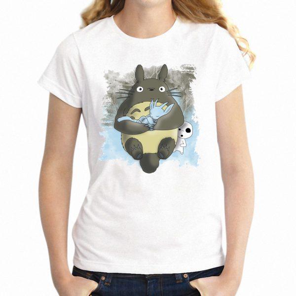 New Totoro & Kodama Short Sleeve T-shirt