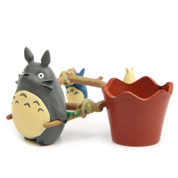 Totoro Toys Pull Cart Figurines
