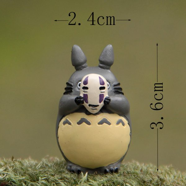 Totoro No Face Mask Figurines 2021