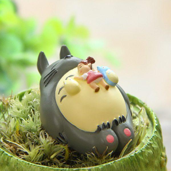 Cute Miyazaki Hayao + Totoro Sleepping Figurines