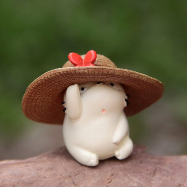 3cm White Baby Totoro With Hat