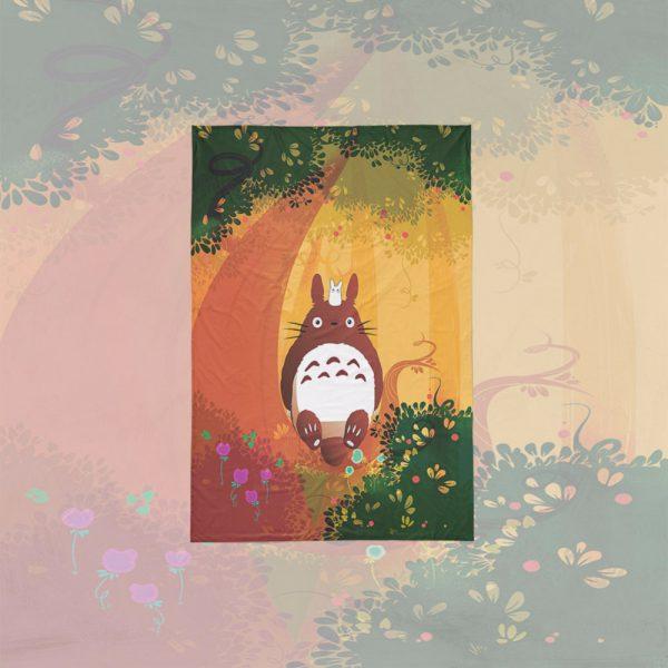 Anime Totoro Autum Theme Bedding Set