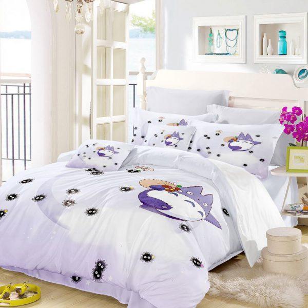 Totoro With Dust Balls Bedding Set
