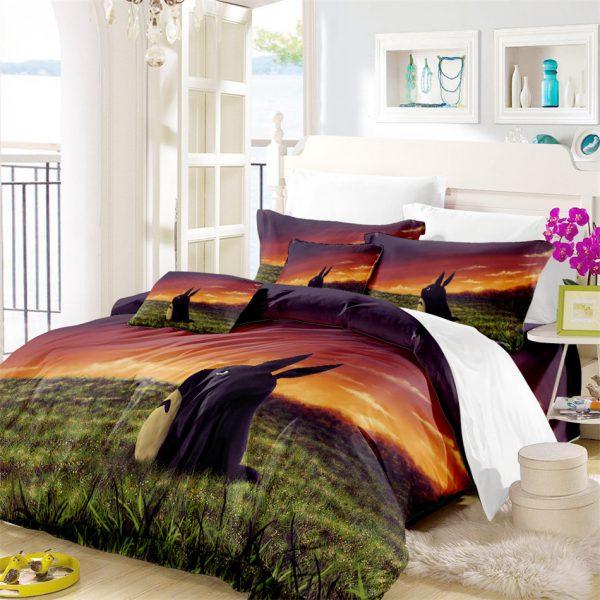 Totoro Sunset Theme Bedding Set