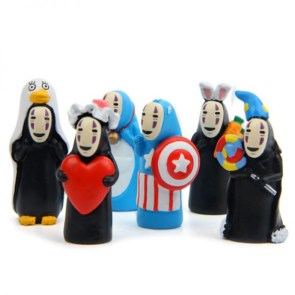 6pcs/lot Spirited Away No Face Unique