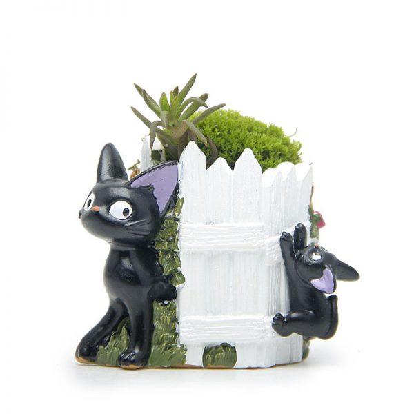 6cm Studio Ghibli Fence Kiki Cat Flower