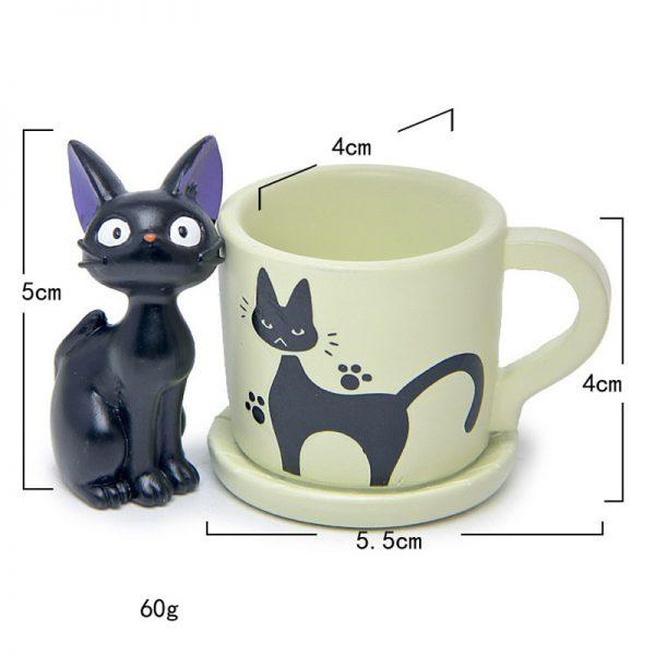 Small Cute Cup Kiki Cat Flower Pot