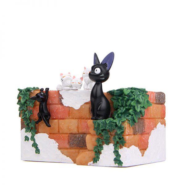 1pcs Black Cat & White Cat Flower