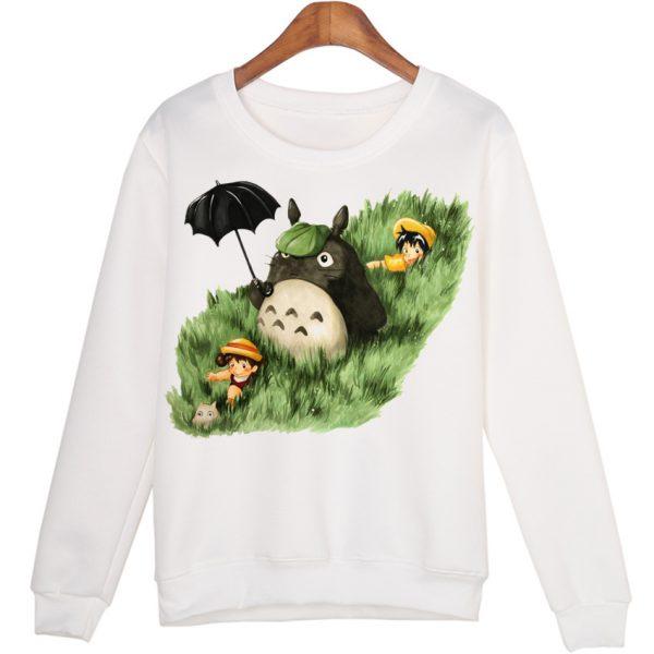 Totoro Lying On Glass Women Sweatshirts