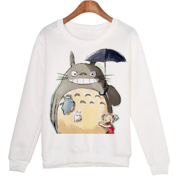 Totoro Smile With Umbrella Sweatshirts