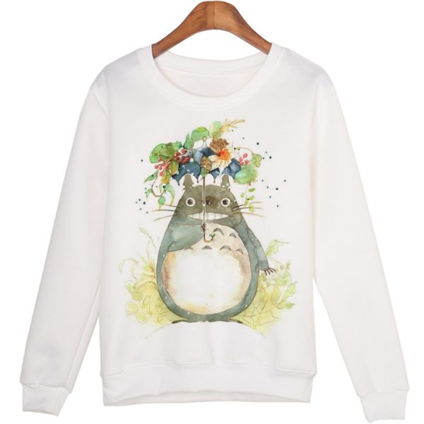 Totoro With Flowers Sweatshirts