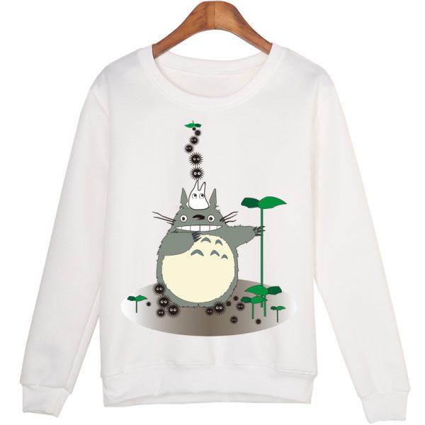 Totoro With Leaves Sweatshirts