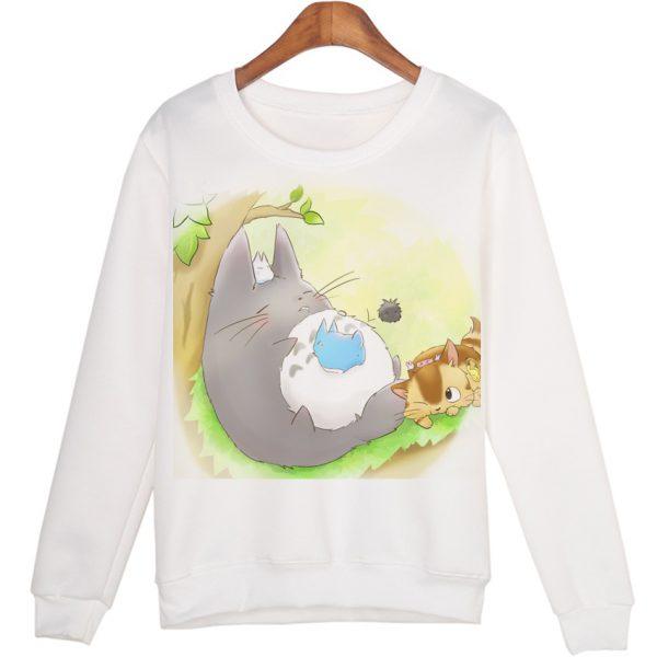 Totoro Sleeping On The Glass Sweatshirts