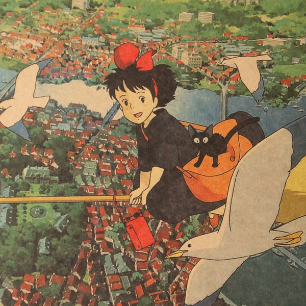 Kiki's Broomstick Flight Poster