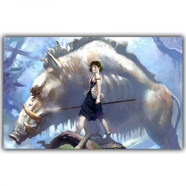 Magnificent Wolf Of Princess Mononoke Movie Poster