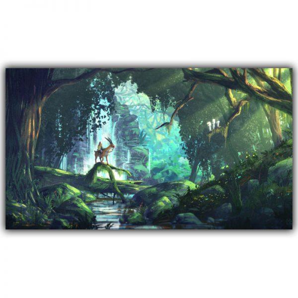 Princess Mononoke In The Forest Poster