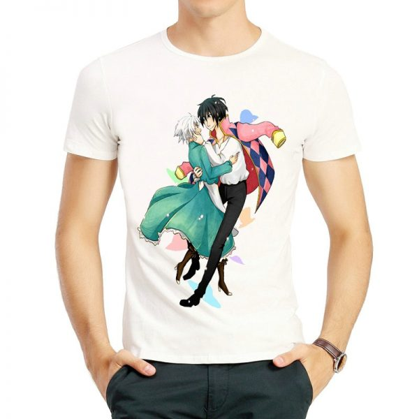 Howl's Moving Castle Characters T-shirt Couple