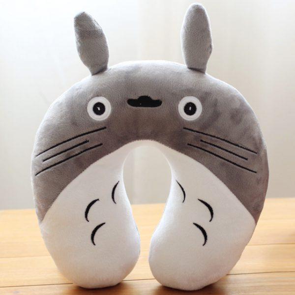 Grey Totoro Plush Neck Protect Pillow U-shaped