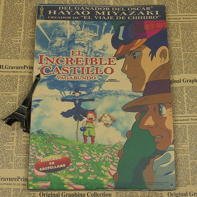 Howl's Moving Castle Theme Painting Poster