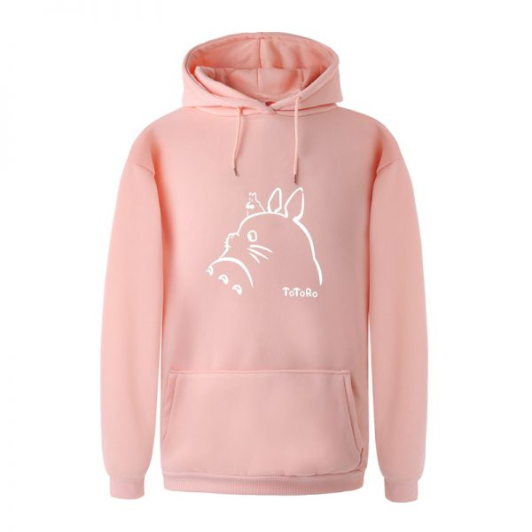 Casual Totoro Print Basic Hoodies