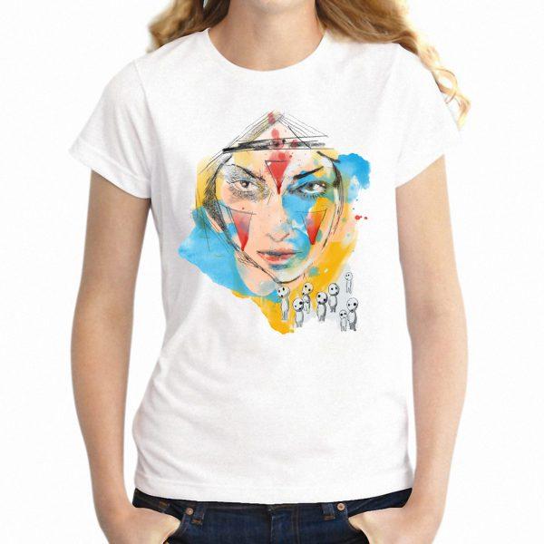 Colorful Princess Mononoke Women's T-shirt