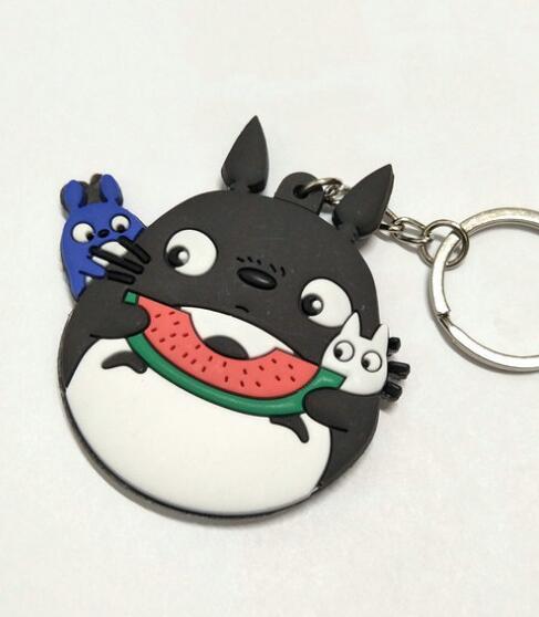 Totoro Eat Watermelon Keychain