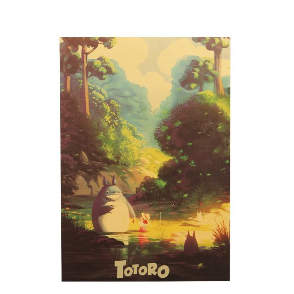 Totoro Kraft Paper Classic Poster