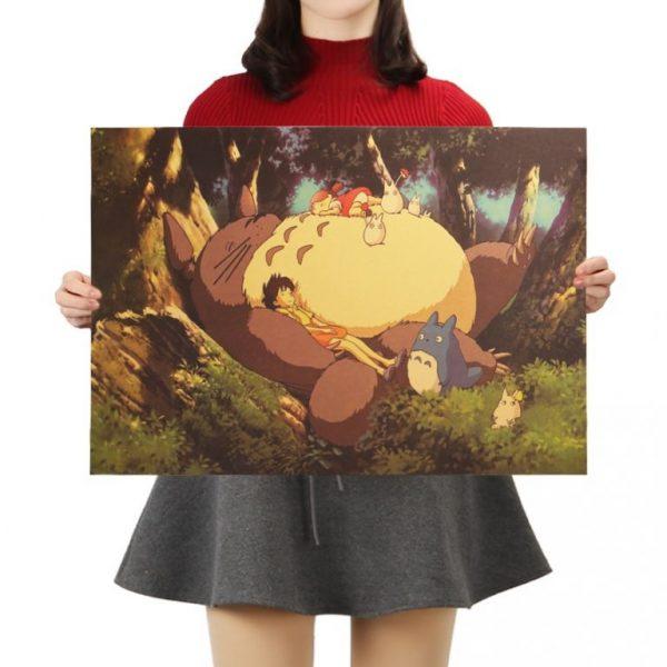 Classic Cartoon Movie Poster Totoro Kraft Paper