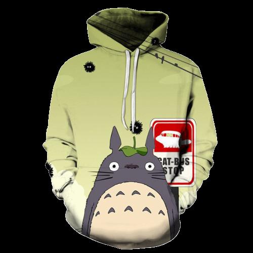 Adorable Totoro 3D Anime Hoodie