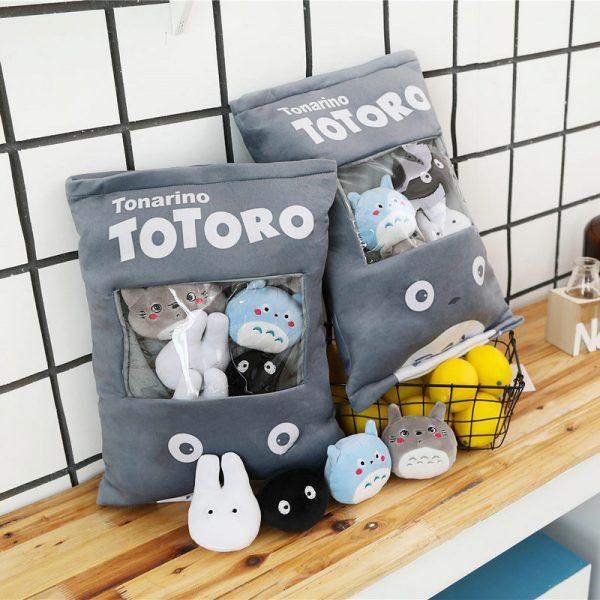Totoro Stuffed Pillow With 4pcs mini size