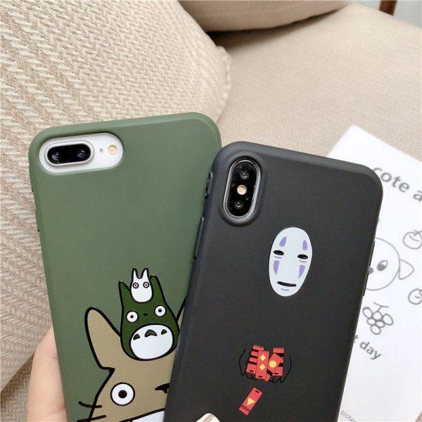 Studio Ghibli Cartoon Happy Totoro Phone Case