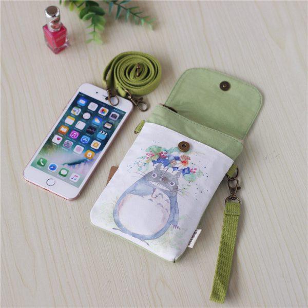 Totoro Canvas Printing Crossbody Handbag