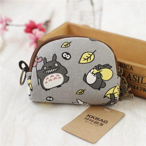Coin Purse Totoro Anime Canvas