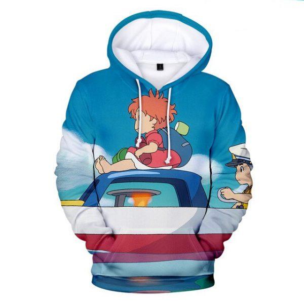 Cute Ponyo Winter 3D Hoodie