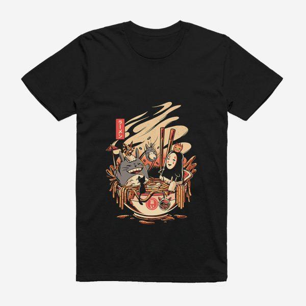 Studio Ghibli Black Cotton T-shirt