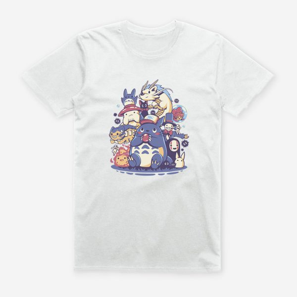 Chibi Totoro With Friends White T-shirt 2021