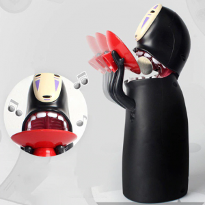No Face Piggy Bank Funny Saving Music Box