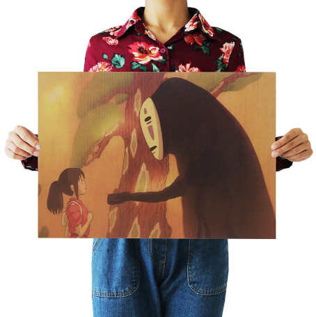 Spirited Away Famous Retro Poster