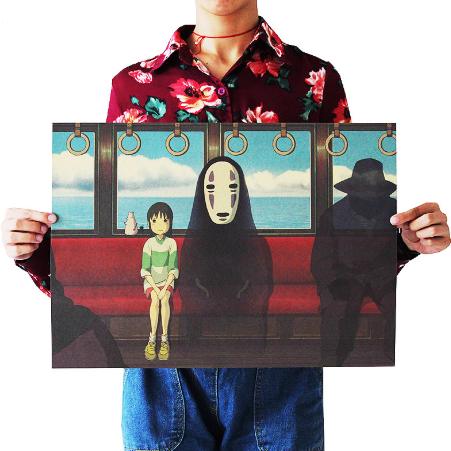Anime Movie Spirited Away Poster Kraft