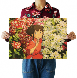 Spirited Away Kraft Paper Poster