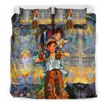 Bedding Set - Black - Eternal Grave of the Fireflies