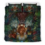 Bedding Set - Black - Fearless Princess Mononoke