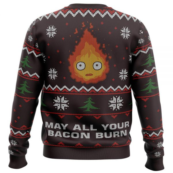 May All Your Bacon Burn Premium Ugly Christmas Sweater