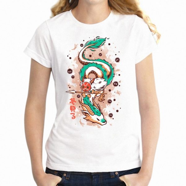 Princess Mononoke Theme T-shirt Raglan