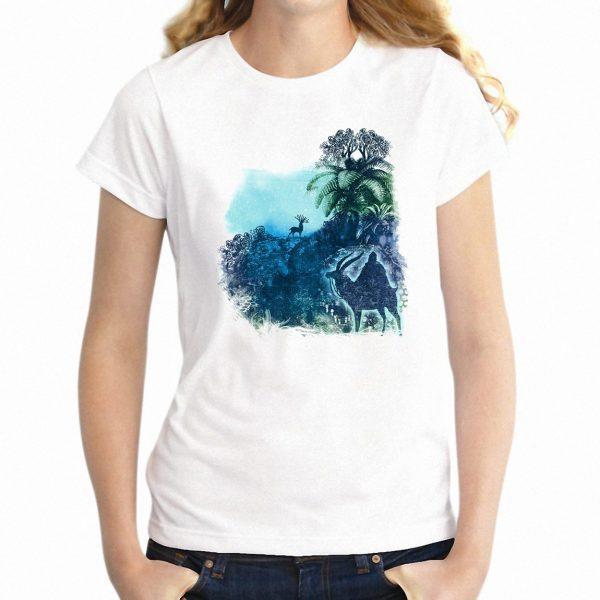 Princess Mononoke White T-shirt Raglan